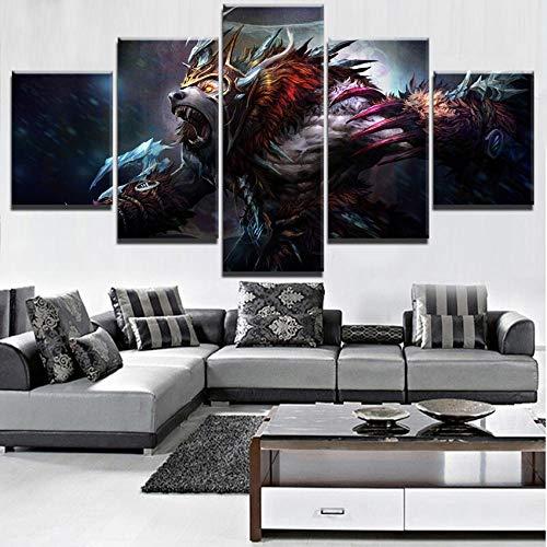 Generic 5 Stück Poster Leinwand Leinwand Spiel Poster Home Decoration Wandkunst Foto Malerei Für Wohnzimmer Single Sans Cadre
