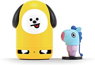 BT21 Official BTS Friends Duo Bluetooth Stereo Portable Speaker & Figure Set for Home, Outdoors, Travel (Speaker CHIMMY + Figure MANG)