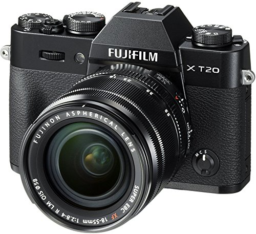Fujifilm X-T20 Mirrorless Digital Camera w/XF18-55mmF2.8-4.0 R LM OIS Lens-Black