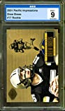 Drew Brees Rookie Card 2001 Pacific Impressions #17 AGS 9. rookie card picture