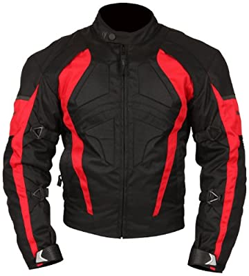 Milano Sport MJGAM0385XL Gamma Motorcycle Jacket with Red Accent (Black, X-Large) by Fowlers