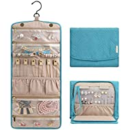 BAGSMART Travel Jewellery Organiser Roll Foldable Jewelry Case for Journey-Rings, Necklaces,...