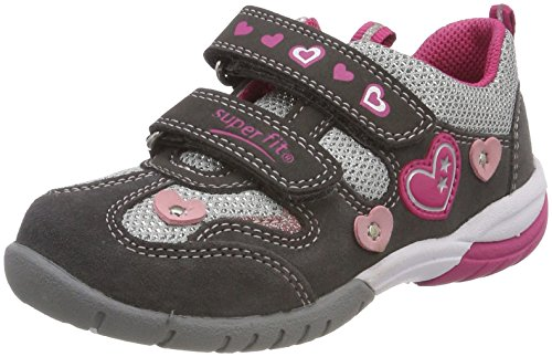Superfit Mädchen SPORT3 Sneaker, Grau (Stone Kombi), 32 EU