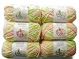 BERNAT Baby Blanket Yarn, 3.5oz, 6-Pack (Little Sunshine)