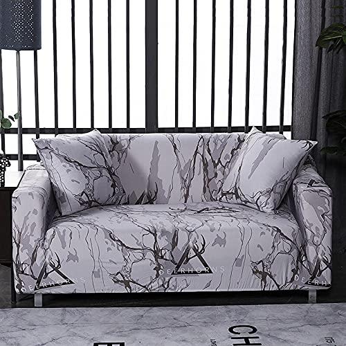 WXQY Funda de sofá elástica con patrón de Lino Funda de sofá elástica Todo Incluido a Prueba de Polvo Funda de sofá de Sala de Estar sillón A18 4 plazas