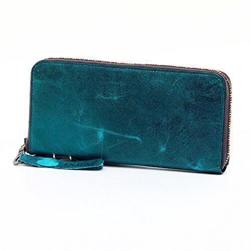 (ソラチナ) SOLATINA 長財布 [ホースレザー焦がし加工] sw-38153 5.グリーン