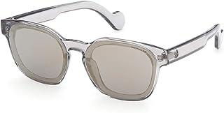 Sunglasses Moncler ML 0086 20C Shiny Transparent Grey/Smoke W. Gold Mirror Len