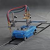 INTBUYING Semi-automatic Torch Track Burner Cutter Portable Gas Cutting Machine Flame Cutting Machine Metal Cutting Beveling (Single Torch)