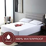 EXQ Home Premium Waterproof Mattress Cover Protector Twin XL,Breathable & Noiseless Extra Long Twin Size Mattress Pad Cover,Fitted 10''-18'' Deep Pocket