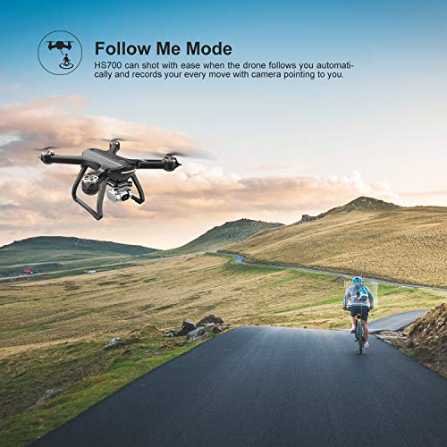Holy Stone HS700D FPV Drone con cámara 4K FHD Video en vivo y GPS Regreso a casa, RC Quadcopter para ...