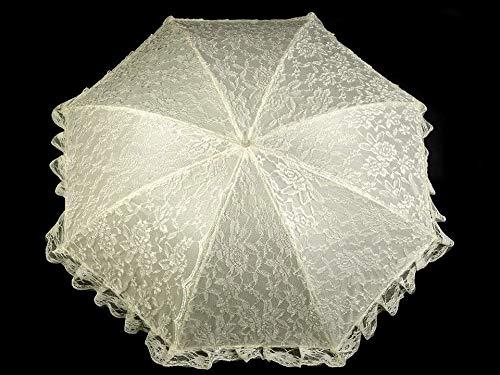 1stück Champagne Hochzeitsregenschirm Spitze, Damen Regenschirme, Und Regenjacken, Modisches Zubehör
