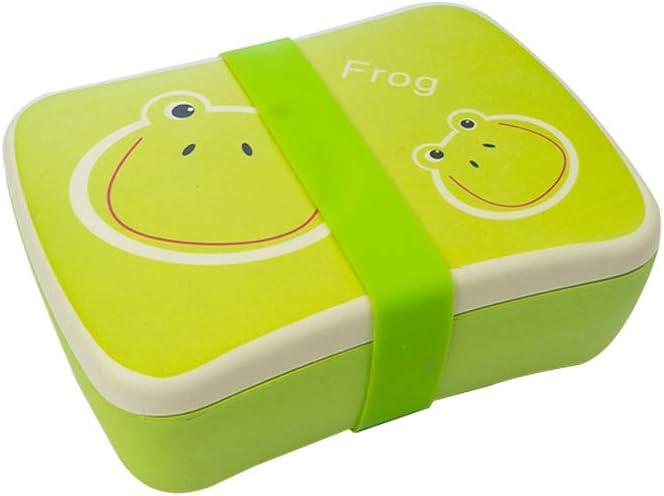 Apto para lavavajilla-Abeja Various Fiambrera Infantil Colegio,Conjunto Sandwichera de bamb/ú.Ideal para Infantil ni/ños y beb/é,Material ecol/ógico sin BPA