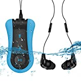 AGPTEK S12E Clip 8GB Waterproof MP3 Player with Waterproof Headphone, Perfect for Swimming