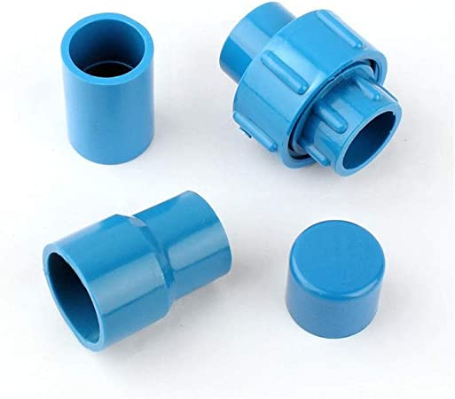 Xucus 20mm ID Transparent Equal Straight PVC Tube Joint Pipe Fitting Adapter Water Connector for Garden Irrigation Aquarium Fish Tank