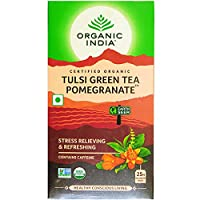 Organic India, Tulsi Tea, Organic, Pomegranate Green - 18 bag by Select Nutrition