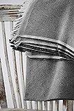 Textilhome - Funda Multiusos Foulard Cubre Cama Dante - 230x285 cm - para Funda Sofa 3 Plazas, Protector Cubre Sofa. Color Negro