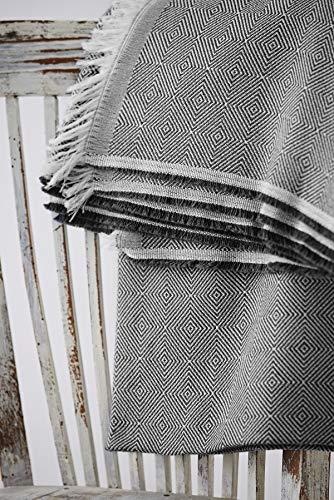 Textilhome Mehrzweck-Überwurf für Sofa, 180 x 285 cm, für 2-Sitzer-Sofa-Schutz, Schwarz