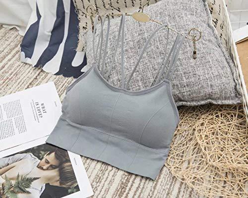 Charm4you de Ropa Interior Femenina Belle sangle arrière Anti-éblouissement Sans Soutien-Gorge anneau en Acier Sexy et Confortable rassembler Sous-vêtements Sans Couture