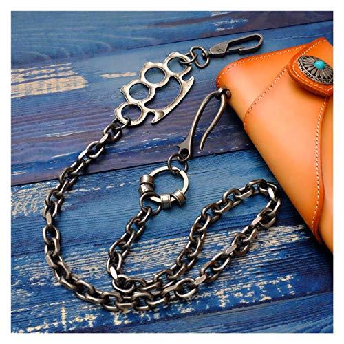Personalidad simple Fashion Hombres Joyería Cintura gruesa Motocicleta Motocicleta Cartera Llavero Roca Metal Metal Hip Hop Pantalones Góticos Pantalones Pantalones Monedero Cadena de cuero pa