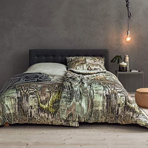 ESTELLA Mako Interlock Jersey Bettwäsche Sandur moos 1 Bettbezug 135x200 cm + 1 Kissenbezug 80x80 cm
