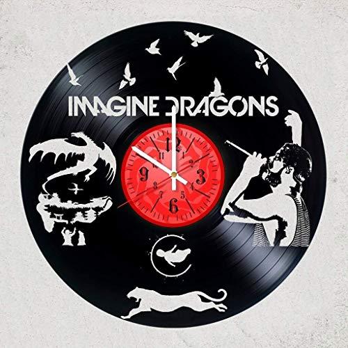 Imagine Dragons vinyl wall clock, Best gift for your friend, wall decor Imagine dragons room decoration, art, vinyl record