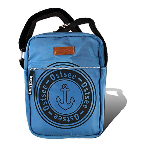 Robin Ruth Crossbody Bag Ostsee blau Anker Unisex maritim 20x15x5 cm inkl. Feeanhänger D1OTG2105B Polyester Tasche von Robin Ruth für die Frau