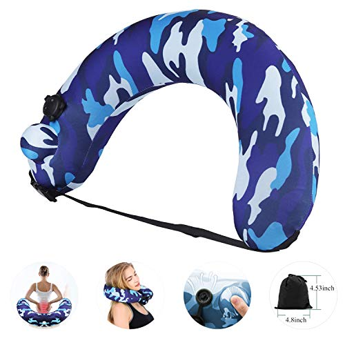 Portable Swim Trainer Swimming Belt for Kids Adults, Inflatable Neck Pillow for Airplane Travel, Life Belts Kickboards Flotation Device Back Neck Float Pool Float