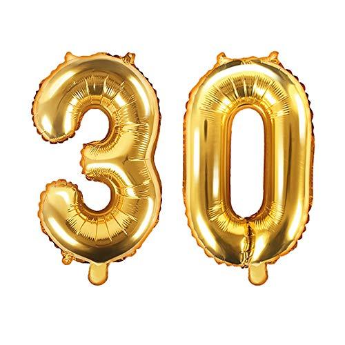XXL folieballon/aantal 30 in goud/verjaardagsballon voor de 30e Verjaardag/jaar cijfer/Leeftijd/Decoratie Decoratie Veenjaarsdag/Voljarig