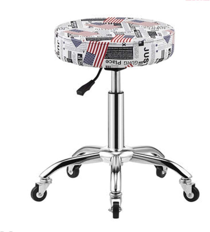 360 Degree redating bar Stool high Stool Lift Chair Home Back bar bar Stool bar Chair (color   White)