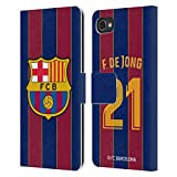 Head Hülle Designs Offiziell Zugelassen FC Barcelona Frenkie de Jong 2020/21 Spieler Home Kit Gruppe 1 Leder Brieftaschen Handyhülle Hülle Huelle kompatibel mit BlackBerry Motion