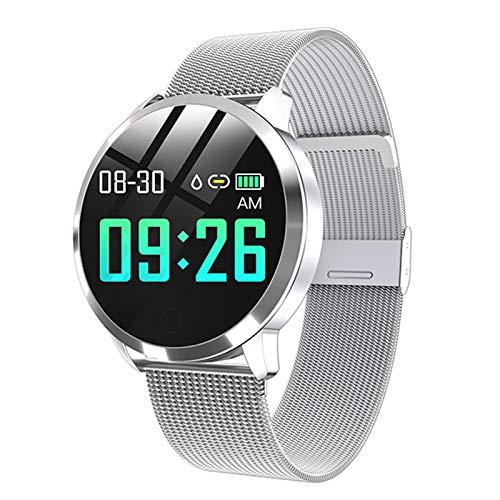 LJMG Smart Watch Nuevo Q8 Q9 Productos electrónicos, Deportes Impermeables para Hombres y Mujeres, rastreador, Pulsera de Fitness, Dispositivo Inteligente de Relojes para Android iOS,D