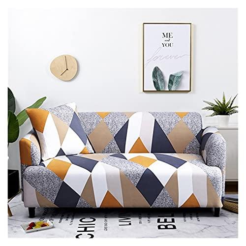 uyeoco Funda Sofa Elasticas 3/4/2/1 Plazas Fundas de Sofa Ajustables Fundas Decorativa para Sofá Estampadas Impresa Cubre Sofa (Color : O, Size : 4 Seater (235-300cm))