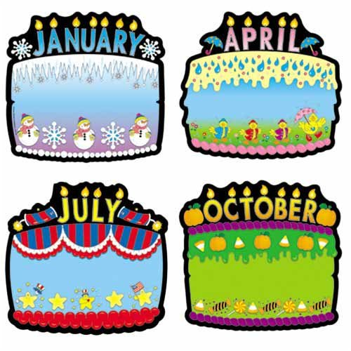 Amazon Carson Dellosa Birthday Cakes Bulletin Board Set 18 Pieces Industrial Scientific