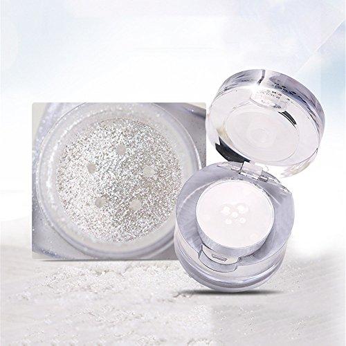 Samber Sombras de Ojos Polvo Glitter Iluminador Facial Polvo de Resaltar para Maquillaje Polvo Cosméticos para Maquillaje Profesional