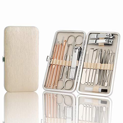 Set De Manucure Nail Tools Coupe-ongles Nail Clippers Set Ensemble de 10 pièces Extreme Gold