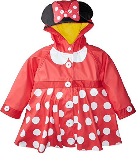 Western Chief Kids Girl's Minnie Mouse Rain Coat (Toddler/Little Kids) Red 2T (Toddler)