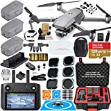 DJI Mavic 2 PRO Drone Quadcopter with DJI Smart Controller (W/Touch Screen Display) and Fly More Kit Combo Bundle; Comes w/ 3 Batteries, Hasselblad Camera, Rugged Carry Case & Must Have Accessories