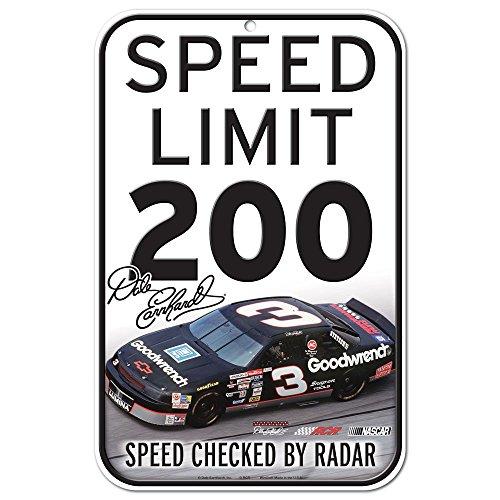 Wincraft NASCAR Kunststoff Schild, schwarz