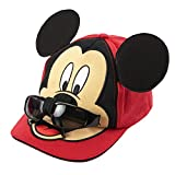 Disney Mickey Mouse Boys Baseball Cap with Removable Sunglasses [2013] Red