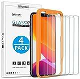 OMOTON Verre Trempé pour iPhone 11 Pro/ X/ XS Film Protection Ecran [Kit Installation Offert] Protecteur Anti Rayures, Facile Installation, Sans Bulles,Transparent[ 5.8 Pouces, Lot de 4]