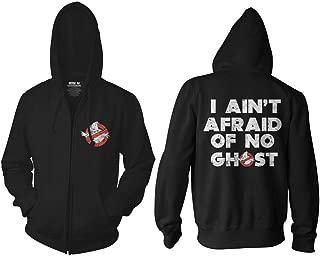 Ghostbusters Adult I Ain't Afraid Distressed Full Zip Fleece Hoodie