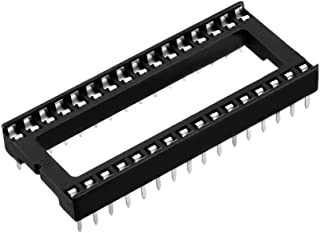 uxcell 25pcs 2.54mm Pitch 15.2mm Row Pitch 2 Row 32 Flat Pins Soldering DIP IC Chip Socket Adaptor