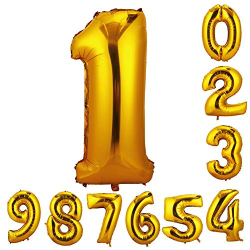 誕生日 数字 バルーン 風船 ナンバー 90cm 風船 数字バルーン ゴム風船 誕生日 パーティー飾りに  (数字1)