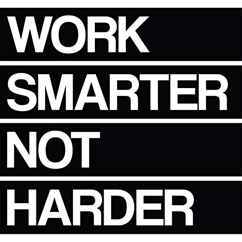 My Vinyl Story Work Smarter Not Harder Wall Sticker Inspirational Wall Decal Motivational Office Decor Quote Inspired Motivated Wall Art Vinyl Wall Decal School Classroom Words and Saying 24x22 in