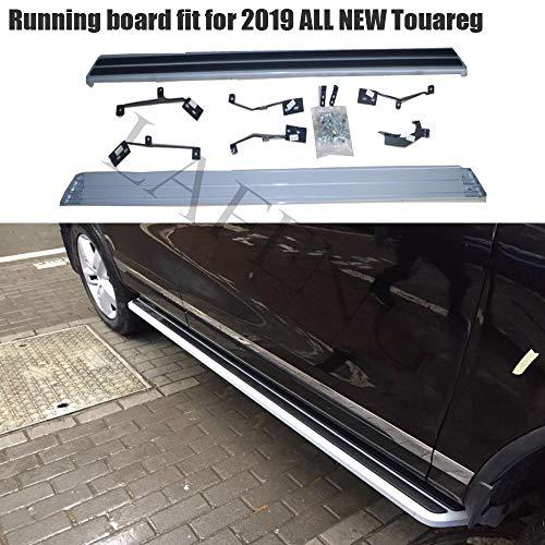 LAFENG Trittbrett, passend für 2019 VW Touareg, Aluminiumlegierung, Seitensteg