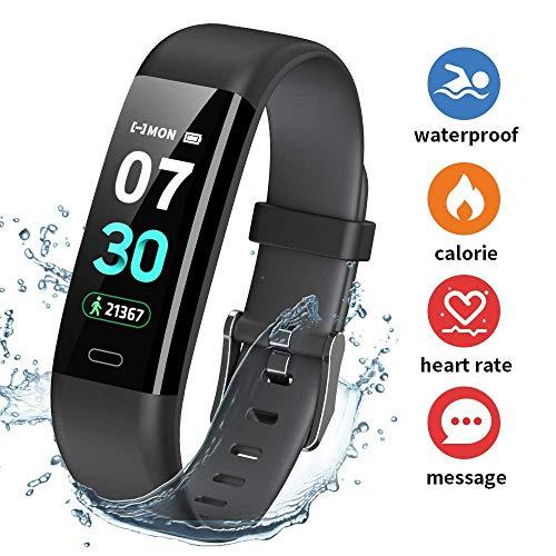 HOFIT Pulsera Actividad Reloj Inteligente Fitness Tracker Podómetro Monitor de Sueño Contador de Calorías Pasos Rastreador de Ejercicios Reloj Salud Pulsera Deportiva para Niños Mujeres Hombres