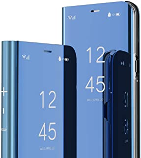 INJOY Huawei Nova 3i Case P Smart Plus Case Luxury View Book Style Flip Mirror Makeup Glitter Slim Shockproof Full Body Pr...