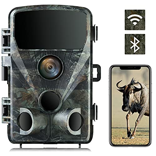 4K 24MP Wildlife Camera Trail Camera WiFi Bluetooth Hunting Camera with Night Vision 0.2s Trigger Speed Game Camera for Hunting, Wildlife Monitoring and Home Security
