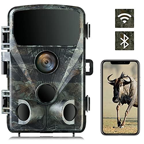 4K 24MP Wildlife Camera Trail Camera WiFi Bluetooth Hunting Camera with...