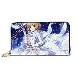 Cardcaptor Sakura Leather Wallet Leather Craft Wallet Credit Card Holder Men's, Women's, Junior Wallet